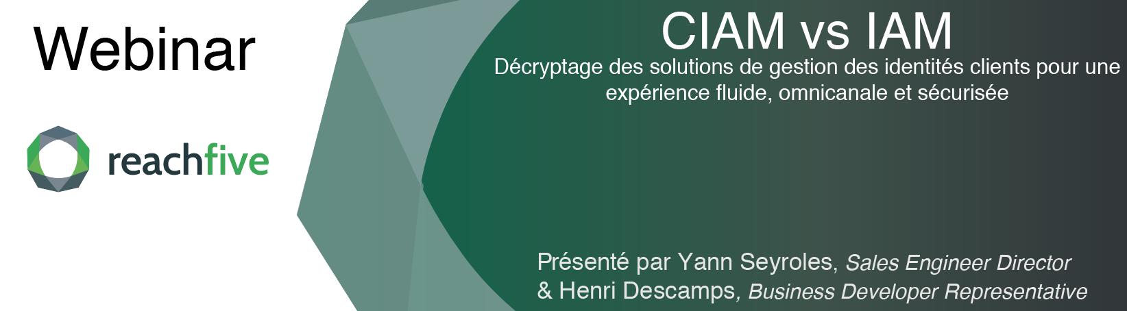 Webinar CIAM vs IAM